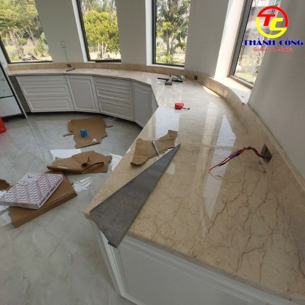ốp bếp đá marble đẹp