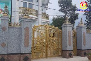 Mẫu đá granite làm mặt tiền cổng đẹp