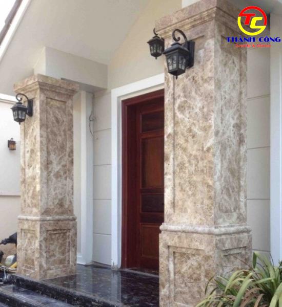 24. Ốp đá cột marble cẩm thạch