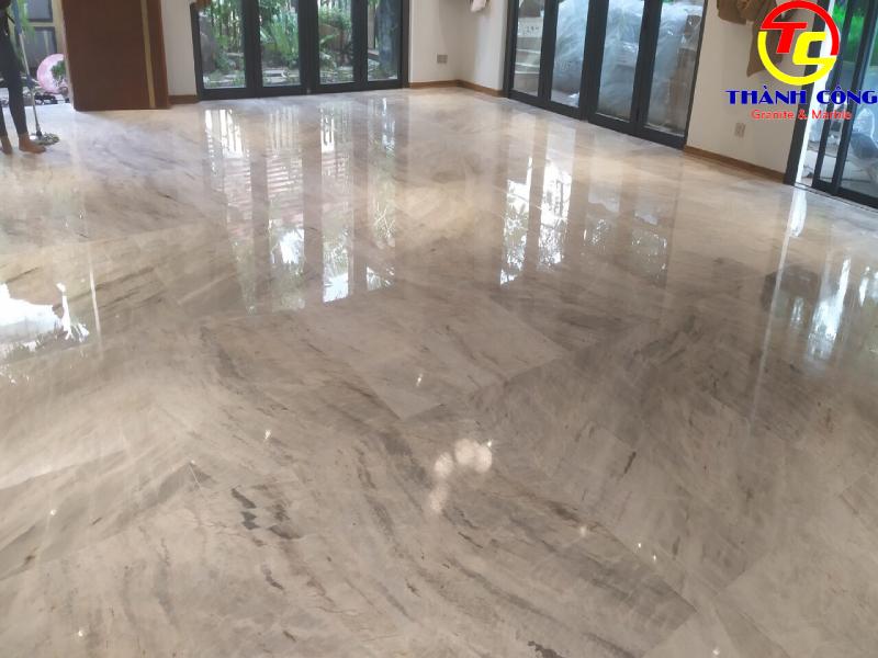 Sàn đá trắng ngọc marble